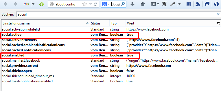 "Social API settings for ""Messenger for Firefox"""